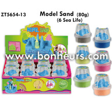 2016 Novelty Toy Eco Friendly 80g Six Sea Life Model Sand