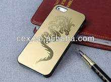 New Arrival Luxury Ultra Thin Dragon Metal Design Hard Case For Apple iPhone 5 5S