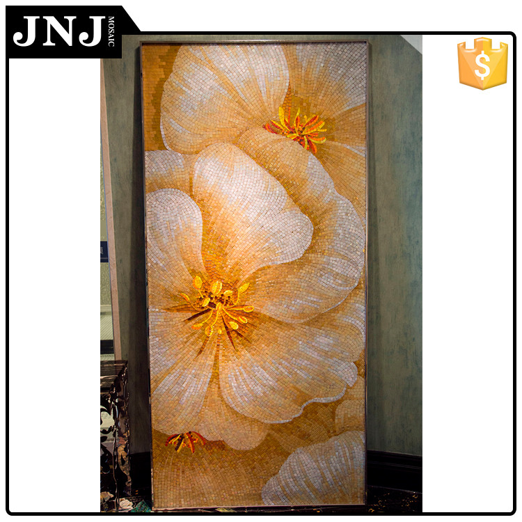 Decoration Tile Mosaic Pattern Floral Wall Art Painting