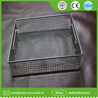 hot sale stainless steel wire mesh hanging storage basket in large stock