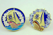 High-Quality Round Anniversary Metal Lapel Pins Badges Emblems Wholesale