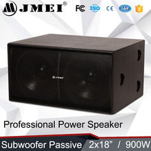 Guangzhou pro sound system dual 18-inch subwoofer for karaoke
