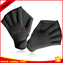 Fingerless Water Aquatic Webbed Swim Gloves for Water Resistance Swimming Surfing Training