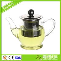 Chinese heat-resistant borosilicate glass best handless teapot