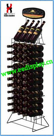 small margins metal wine display rack/flooring wire wine rack/display for promotion store supermarket