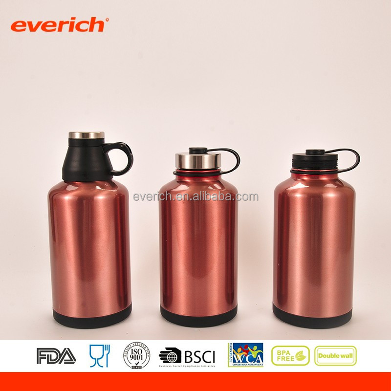 2017 64oz hot saled Powder Coated stainless steel beer bottle cover for sports