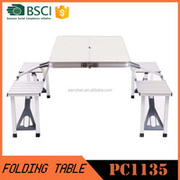 Hot Sale out door aluminum folding table and chair / outdoor furniture PC1135