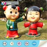 Playground decoration fiberglass cartoon character statue