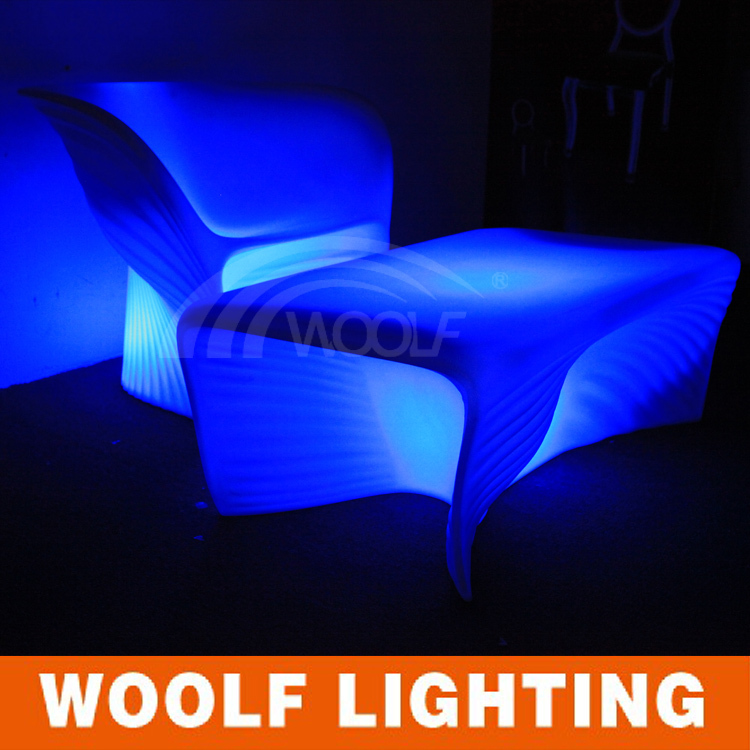 modern design plastic led living room tables