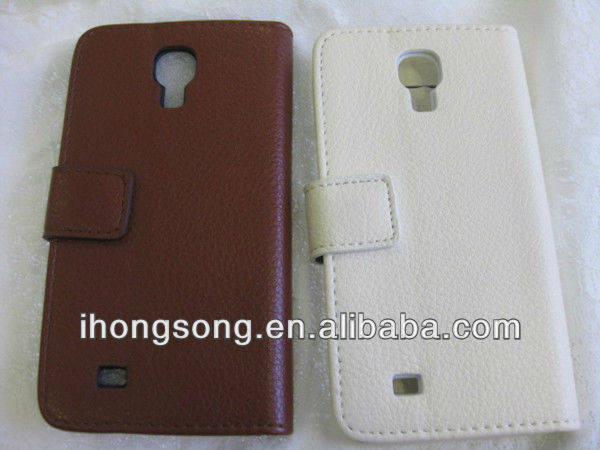 leather cover for samsung galaxy S4 handphone case