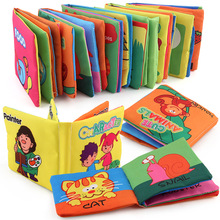 Wholesale kids funny baby educational soft fabric cloth books
