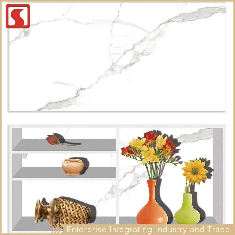 Ningbo 30x60 White Glitter Design Kitchen Ceramic Wall Tile