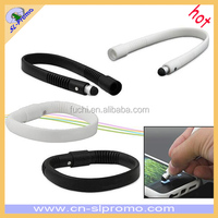 Silicone Touch Screen Stylus Pen Bracelet/Wristband for iPhone/iPad/Tablets