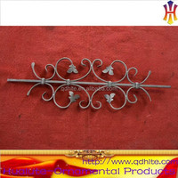 Europe style main gate design wrought iron staircase baluster with scrolls