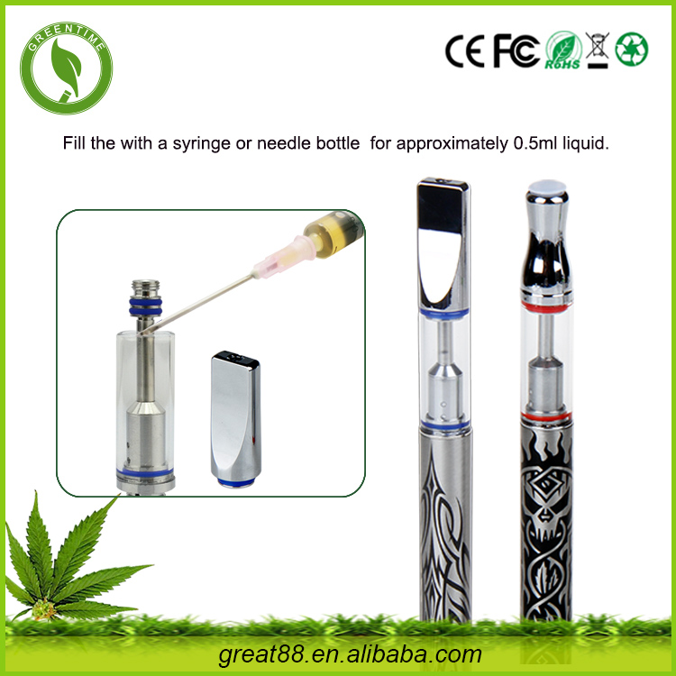 MINI stainless steel drip tip glass CBD Oil atomizers E Cig filled with cbd hemp Oil Filling Machine