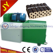 How are saw dust briquettes made by briquetting press machine in China