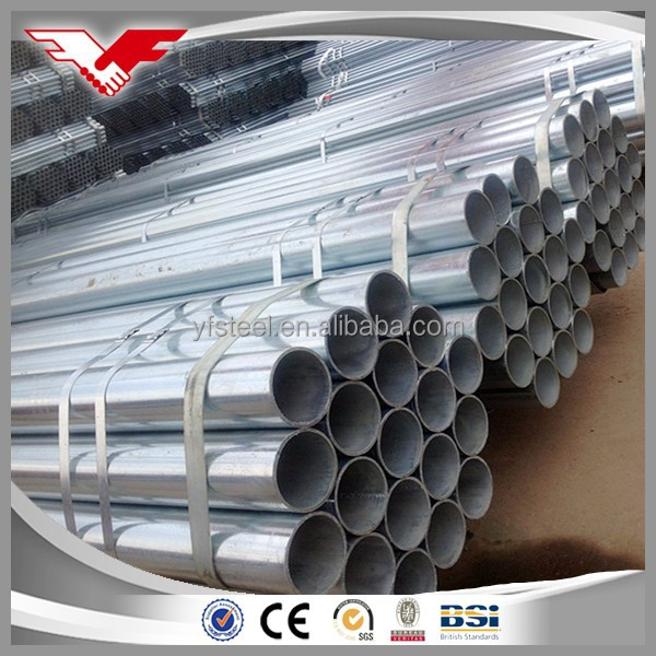 Metal Material BS 1387 Hot Dip Galvanized ERW Water Steel Pipe Price