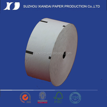best sell 3 1/8 ncr atm machine thermal paper roll 80mm printed credit card thermal roll with black sensor