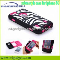 2013 New product zebra style PC hard case for iphone 5C, for iphone 5C case online shop china