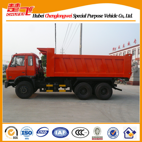 Dongfeng 3 axles sand tipper dumper truck dimensions