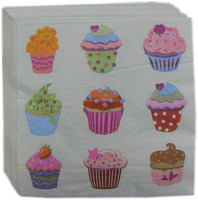 Free sample cake printed paper napkins for birthday party