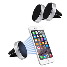 Powerful N50 Magnetic Mobile Holder Car Mobile Phone Display Stand, Magnet Cell Phone Holder Air Vent Car Mount For iPhone