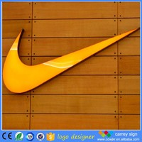 Famous brand names logos 3d epoxy resin channel letter sign