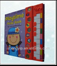children art development book with musical instrument toy playing