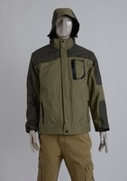 European Style High Quality Men Outdoor Plain Windbreaker Jacket With Hood