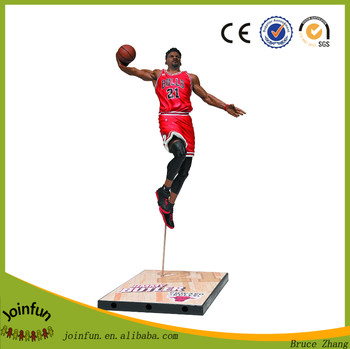 Make custom mini plastic sports figures, OEM toy plastic sports players figures