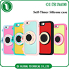 new products Self-timer Silicone Case for iPhone 6S Soft Silicone Selfie-camera for iPhone 6S case