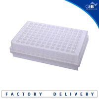 2016 China hot sale 0.1ml half /non/full skirt 96 well PCR plate, lab consumables