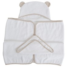 Wholesale soft OEM service 100% organic baby bamboo hooded towel