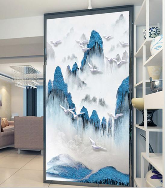 Personalizado 3D moderno simple fondo de pared para salón dormitorio ...