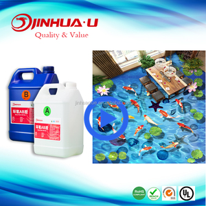 Two Part Epoxy Resin for 3D Epoxy Floor Paint with Shinning Finished