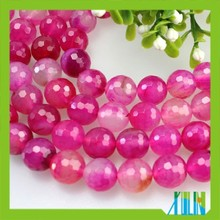 Wholesale charm faceted rose red gemstone semi precious beads