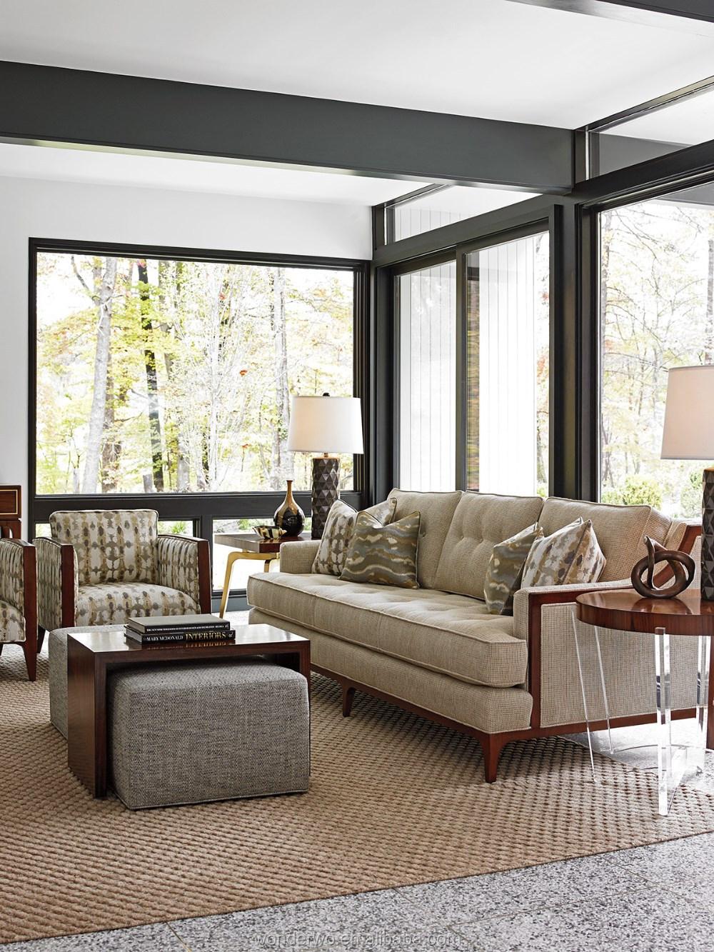 tufted living room furniture. Barclay Sofa wood trimmed sofa button tufted living room furniture hotel