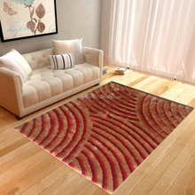 washable floral machine made silk carpet tiles