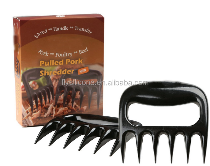 Food grade Heat resistant Black Bear Claws BBQ Meat Forks