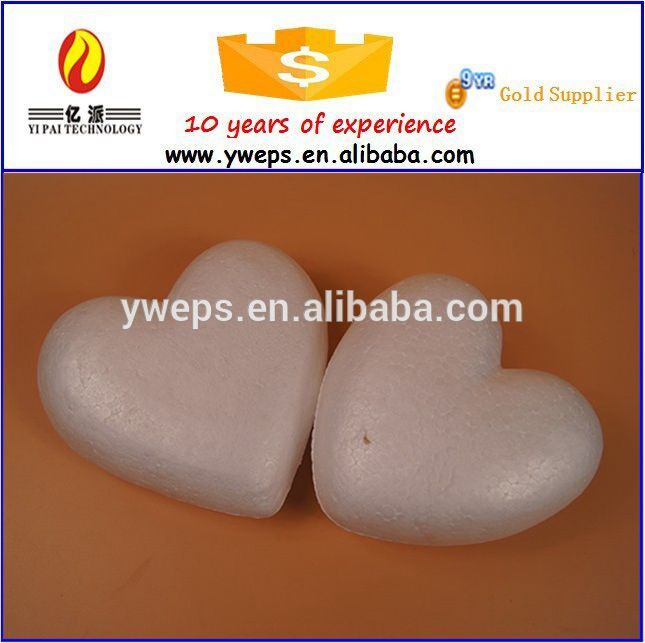 Polystyrene foam craft heart shape for decoration