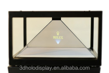 "3D Hologram Box 19"" with 4 sides view, 3D Hologram Display Showcase"