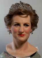 simulated lifesize wax figure, vivid artificial wax figure,wax figures for sale in action figure Diana Spencer