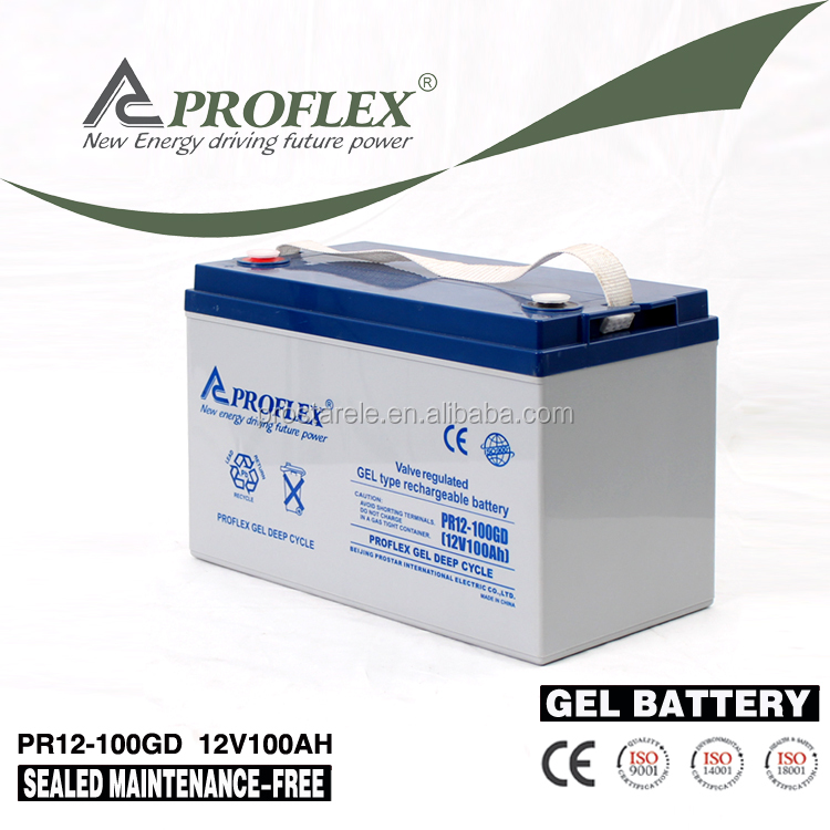 Solar Energy Storage Battery Sealed deep cycle gel battery 12v 100ah