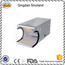 Dental Sand Blaster Sandblasting Cabinet with removable arm rest sandblasting dental price