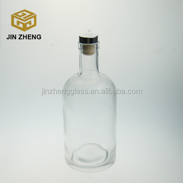 Super flint Clear Glass Empty Bottle Ancient Vodka Container