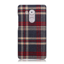 China factory wholesale high qulity top grade grid leather tpu soft back cover case for Huawei Mate 8