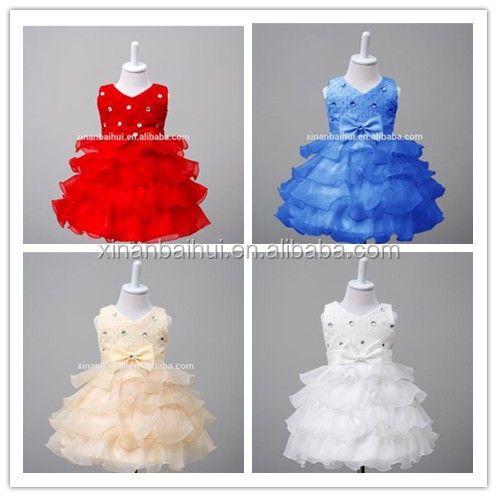 European and American Style girl baby derss Long Gown party dress for kids pink Bridesmaid wedding dress