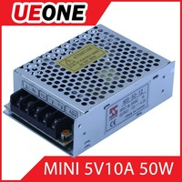 constant voltage Slim 50w 5v 10A mini led power supply for outdoor lightings with CE,Rohs