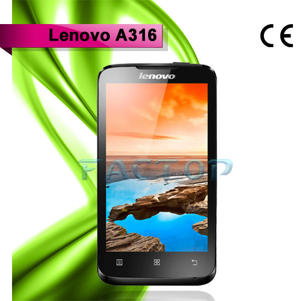 lenovo a316 dual sim card dual core with CE certificate android 4.0 computers handsets phone