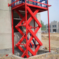 warehouse used cargo lift/car hydraulic lifter